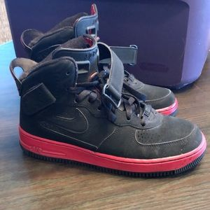 Youth size 6 black and red Jordan's